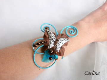 Collection Carlie - Bracelet Turquoise Marron Chocolat